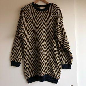 3/$25 SALE Gold Navy Oversized Sweater Dress